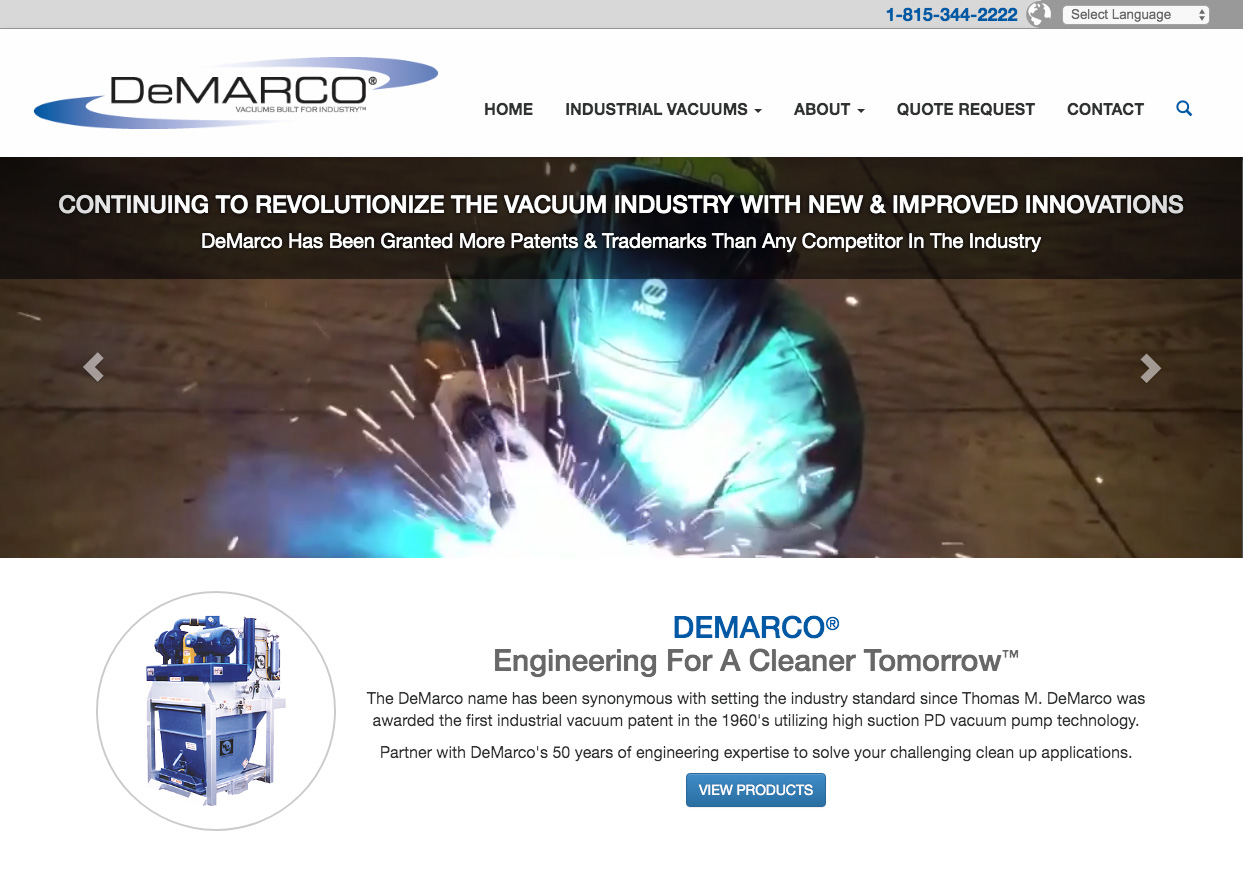 DeMarco Vacuums Built for Industry